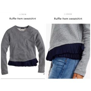 J.CREW Ruffle-Hem Sweatshirt
